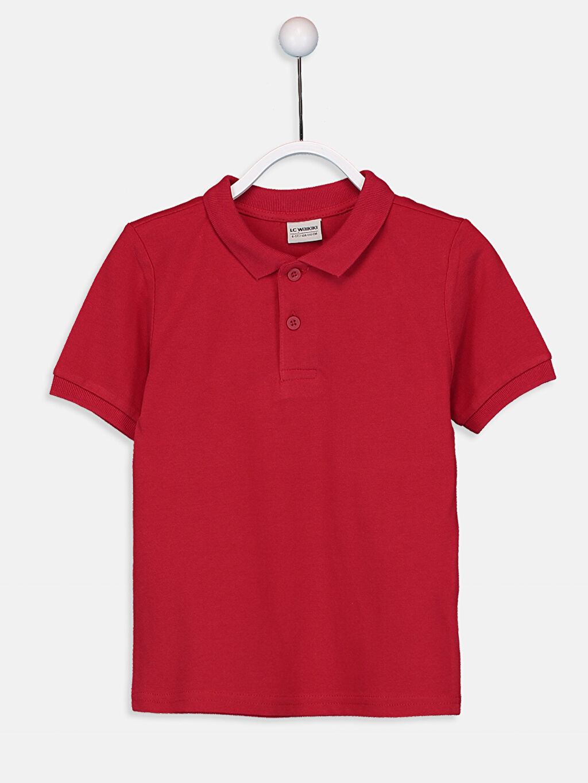 Kırmızı Erkek Çocuk Pamuklu Basic Tişört 9W0930Z4 LC Waikiki