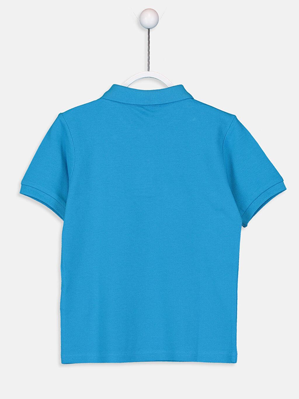 %100 Pamuk Polo Yaka Düz Standart Tişört Pike %100 Pamuk Erkek Çocuk Pamuklu Basic Tişört