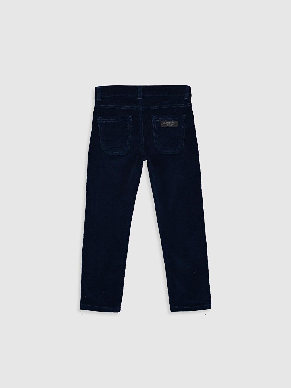 %98 Pamuk %2 Elastan Pantolon Düz Aksesuarsız Kadife Normal Bel Astarsız Dar Beş Cep Erkek Çocuk Slim Fit Kadife Pantolon