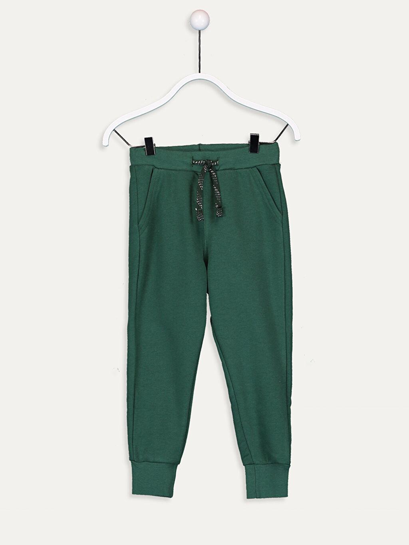 Yeşil Erkek Çocuk Jogger Eşofman Altı 9W0940Z4 LC Waikiki