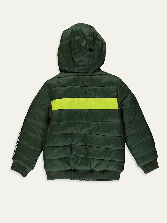 %100 Poliamid %100 Polyester Günlük Tafetta Polar Astar Düz Çift Yönlü Kalın Standart Şişme Mont Erkek Çocuk Kapüşonlu Kalın Şişme Mont