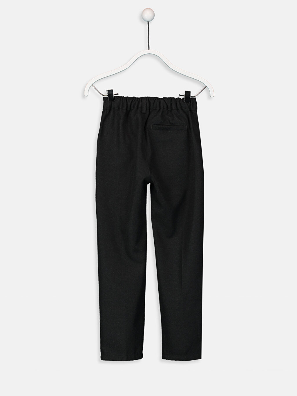 %65 Polyester %35 Viskon Normal Bel Astarsız Pantolon Düz Gabardin Aksesuarsız Standart Erkek Çocuk Chino Pantolon
