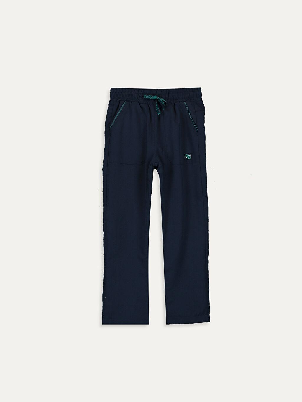 %100 Polyester %100 Polyester Pantolon Polar Astar Düz Aksesuarsız Mikrofiber Bol Normal Bel Erkek Çocuk Beli Lastikli Pantolon