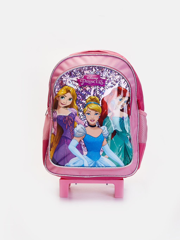 Pembe Kız Çocuk Disney Prenses Çekçekli Çanta 9W2458Z4 LC Waikiki