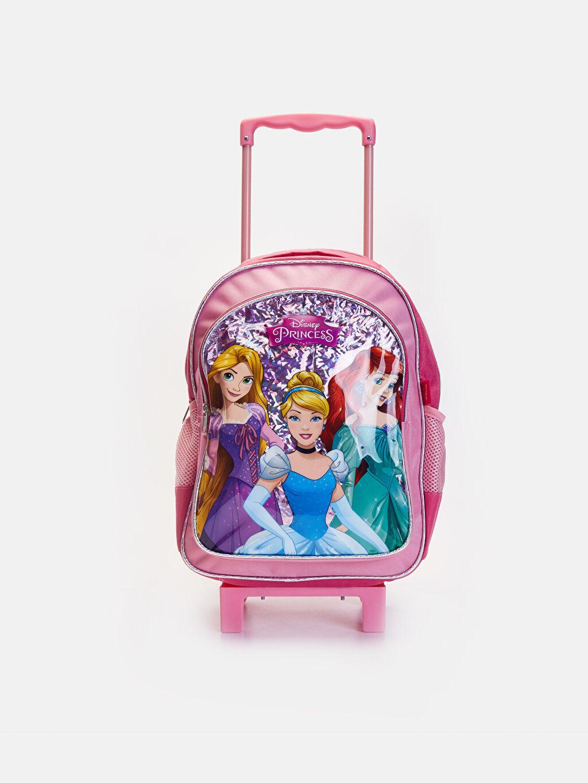 %100 Polyester %100 Polyester Okul Çantası Okul Kız Çocuk Disney Prenses Çekçekli Çanta