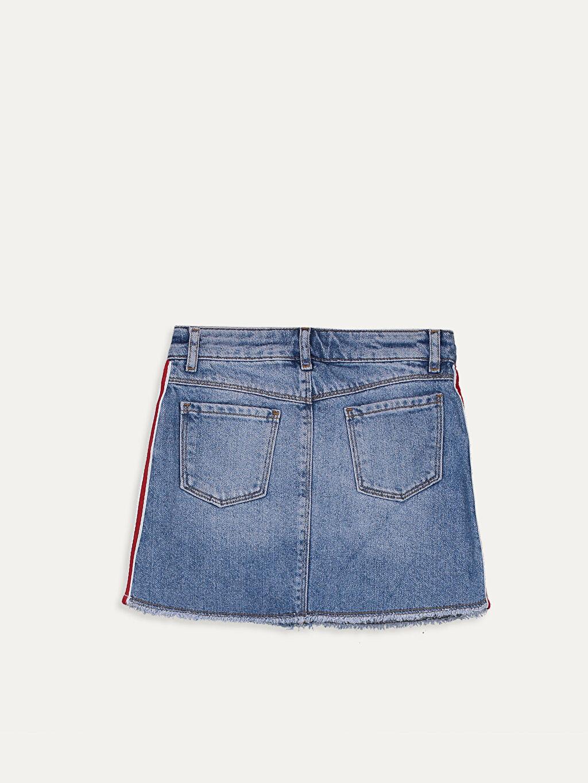 %100 Pamuk %100 Pamuk Normal Bel Jean Etek Beş Cep Düz Aksesuarsız Kısa Kız Çocuk Jean Etek