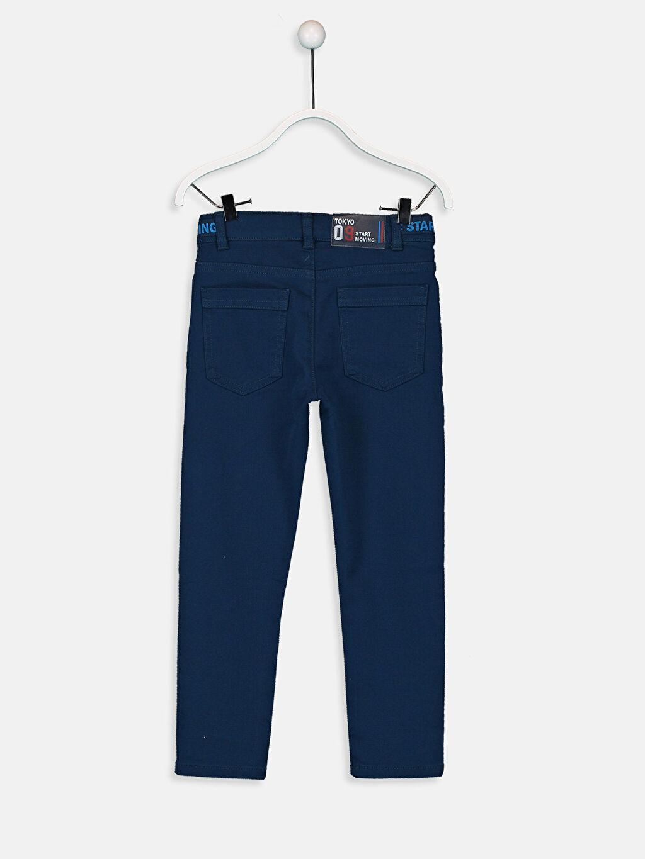 %97 Pamuk %3 Elastan Normal Bel Astarsız Dar Pantolon Düz Aksesuarsız Erkek Çocuk Skinny Armürlü Pantolon