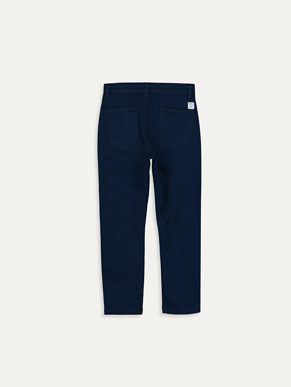 %97 Pamuk %3 Elastan Normal Bel Astarsız Dar Beş Cep Pantolon Düz Gabardin Aksesuarsız Erkek Çocuk Slim Gabardin Pantolon