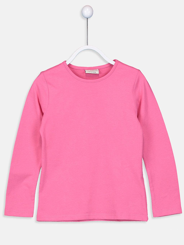 Pembe Kız Çocuk Pamuklu Basic Tişört 9W2619Z4 LC Waikiki