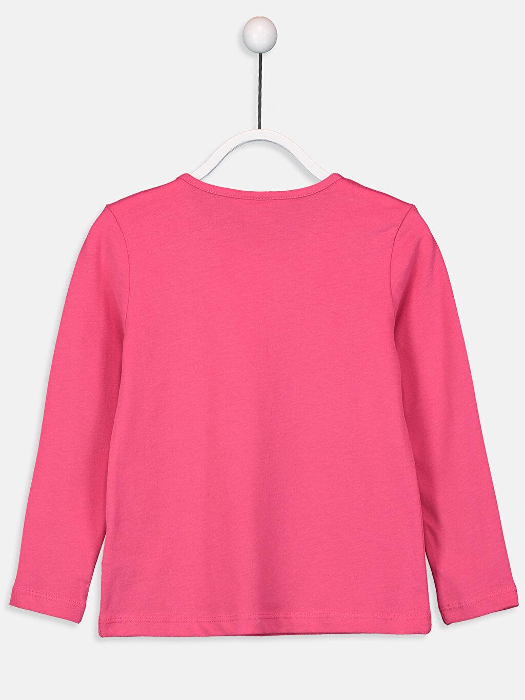 %100 Pamuk %100 Pamuk Penye Tişört Bisiklet Yaka Uzun Kol Düz Standart Kız Çocuk Pamuklu Basic Tişört
