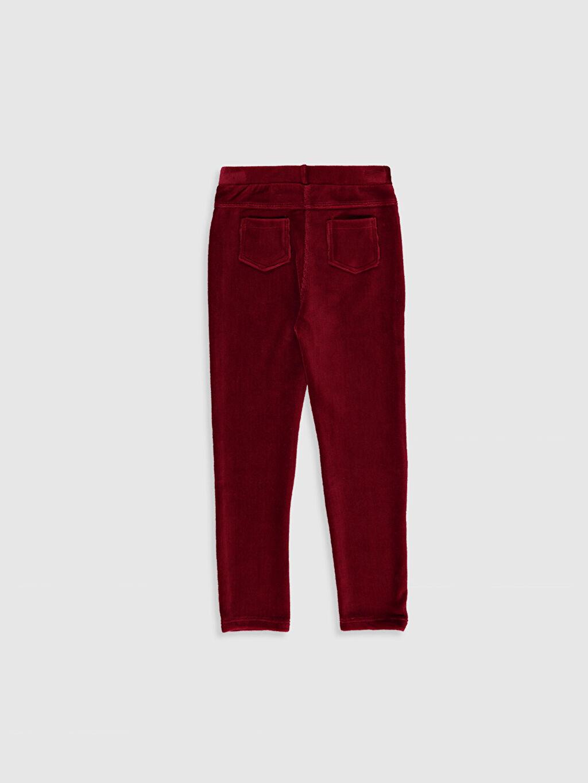 %68 Pamuk %30 Polyester %2 Elastan Normal Bel Uzun Düz Tayt Standart Kadife Kız Çocuk Uzun Kadife Tayt