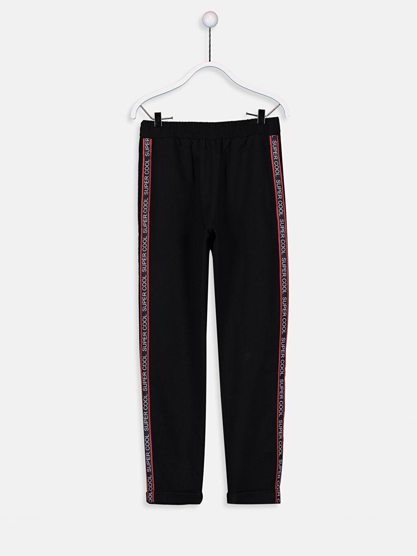 Siyah Kız Çocuk Beli Lastikli Pantolon 9W2900Z4 LC Waikiki
