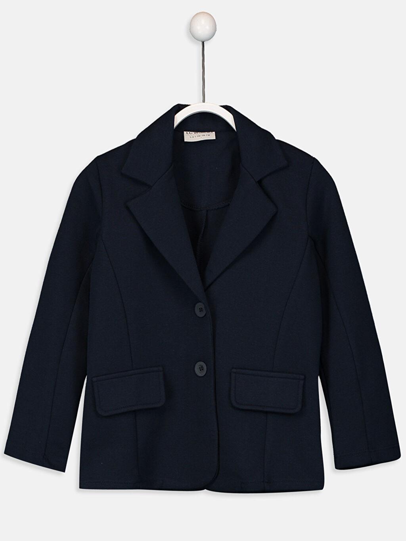 Lacivert Kız Çocuk Blazer Ceket 9W3020Z4 LC Waikiki