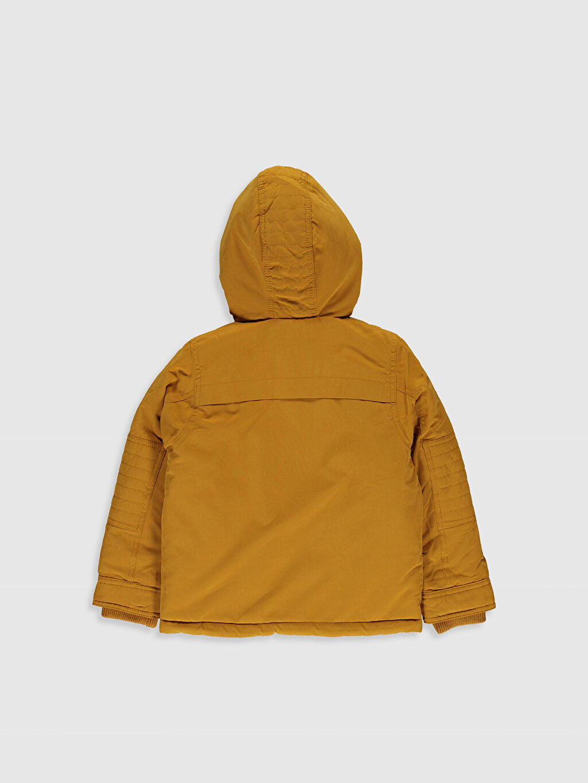 %94 Polyester %6 Poliamid %100 Polyester Kanvas Polar Astar Düz Mont Kalın Standart Günlük Erkek Çocuk Kapüşonlu Kalın Mont