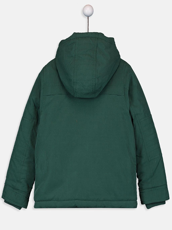 %94 Polyester %6 Poliamid %100 Polyester Kanvas Polar Astar Düz Mont Kalın Standart Casual Erkek Çocuk Kapüşonlu Kalın Mont