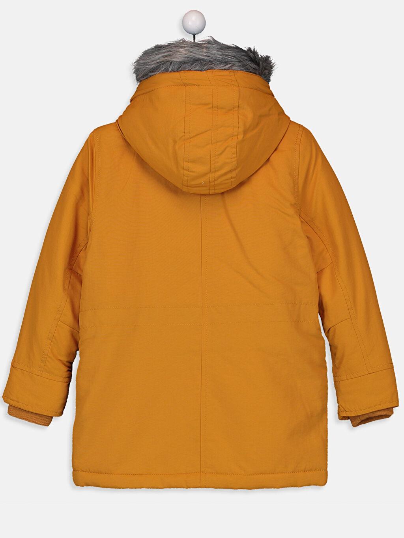 %100 Poliamid %100 Polyester Kürk Astar Düz Kalın Standart Şişme Mont Günlük Erkek Çocuk Kapüşonlu Kalın Kaban