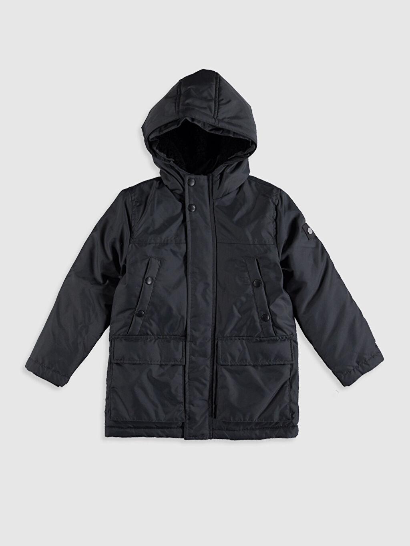%100 Poliamid %100 Polyester Oxford Kürk Astar Düz Kalın Standart Şişme Mont Günlük Erkek Çocuk Kapüşonlu Kalın Kaban