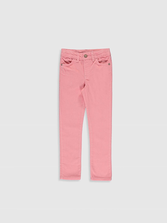 Pembe Kız Çocuk Skinny Kadife Pantolon 9W3595Z4 LC Waikiki