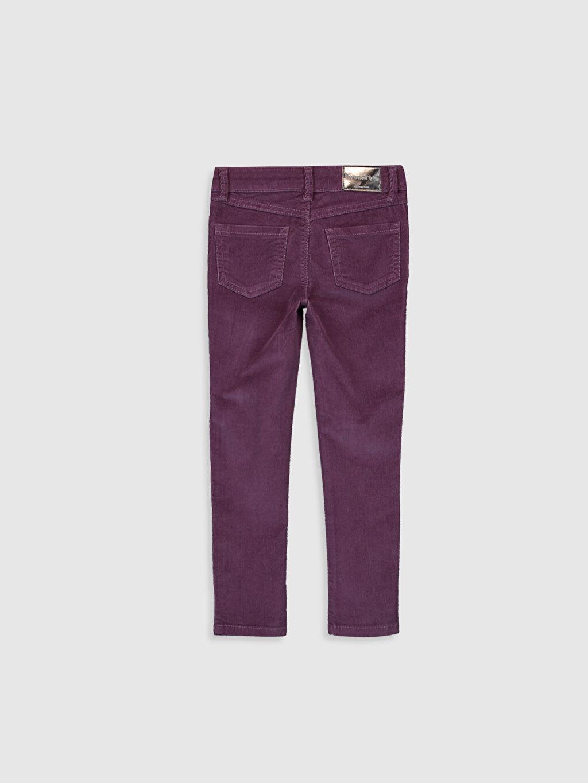 %82 Pamuk %16 Polyester %2 Elastan Normal Bel Dar Pantolon Düz Kız Çocuk Skinny Kadife Pantolon