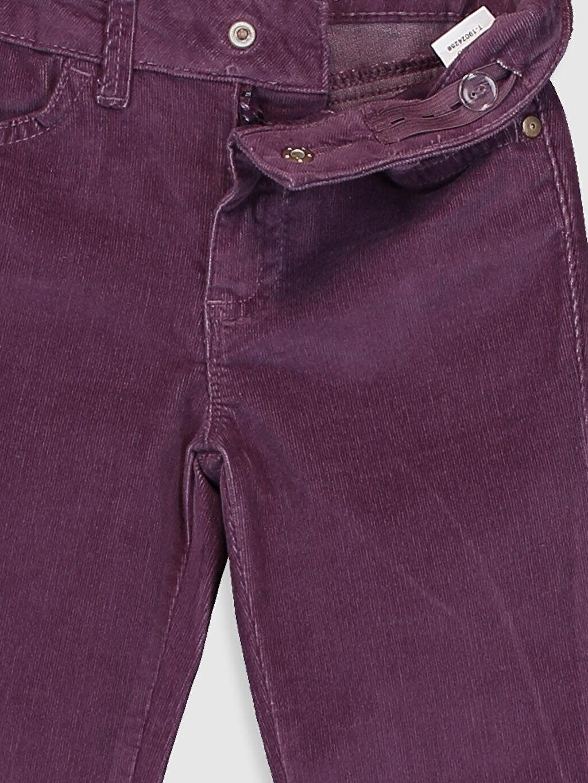 Kız Çocuk Kız Çocuk Skinny Kadife Pantolon
