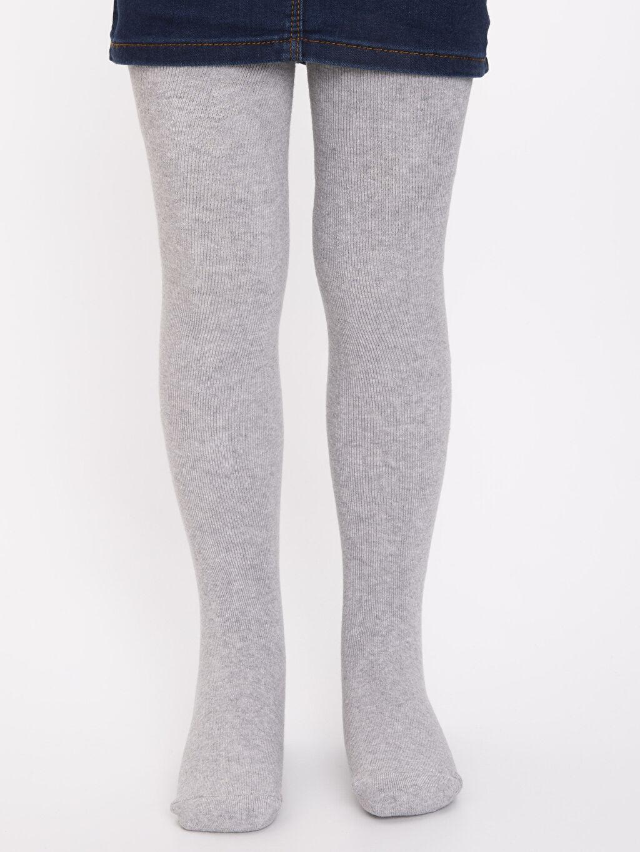 %89 Pamuk %10 Poliamid %1 Elastan Günlük Külotlu Çorap Kalın Kız Çocuk Pamuklu Havlu Külotlu Çorap