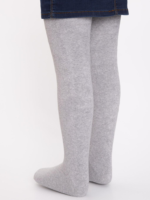 %89 Pamuk %10 Poliamid %1 Elastan Kız Çocuk Pamuklu Havlu Külotlu Çorap