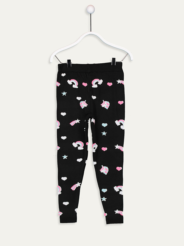 %81 Akrilik %19 Polyester Orta Kalınlık Standart Kendinden Desenli Tayt Standart Triko Kız Çocuk Desenli Triko Tayt