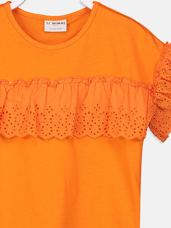 Kız Çocuk Kız Çocuk Fisto Detaylı Pamuklu Tişört