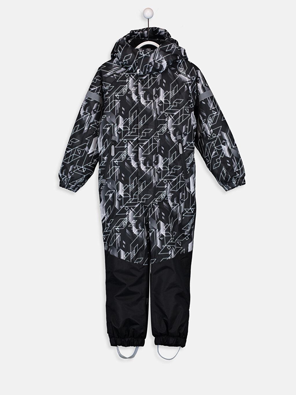 Siyah Erkek Çocuk Kapüşonlu Kayak Pantolonu 9W5250Z4 LC Waikiki