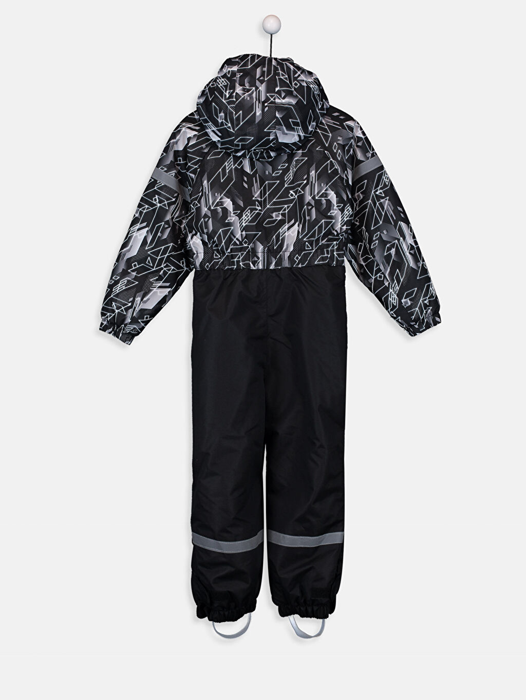%100 Polyester %100 Polyester Tulum Salopet Standart Baskılı Normal Bel Günlük Polar Astar Erkek Çocuk Kapüşonlu Kayak Pantolonu