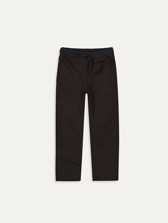 Kahverengi Erkek Çocuk Pamuklu Pantolon 9W5652Z4 LC Waikiki
