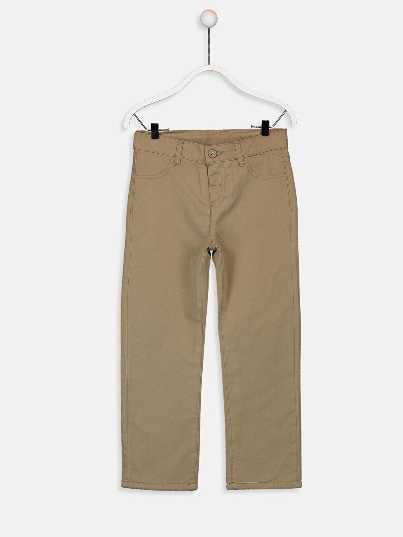 Bej Erkek Çocuk Gabardin Pantolon 9W5660Z4 LC Waikiki