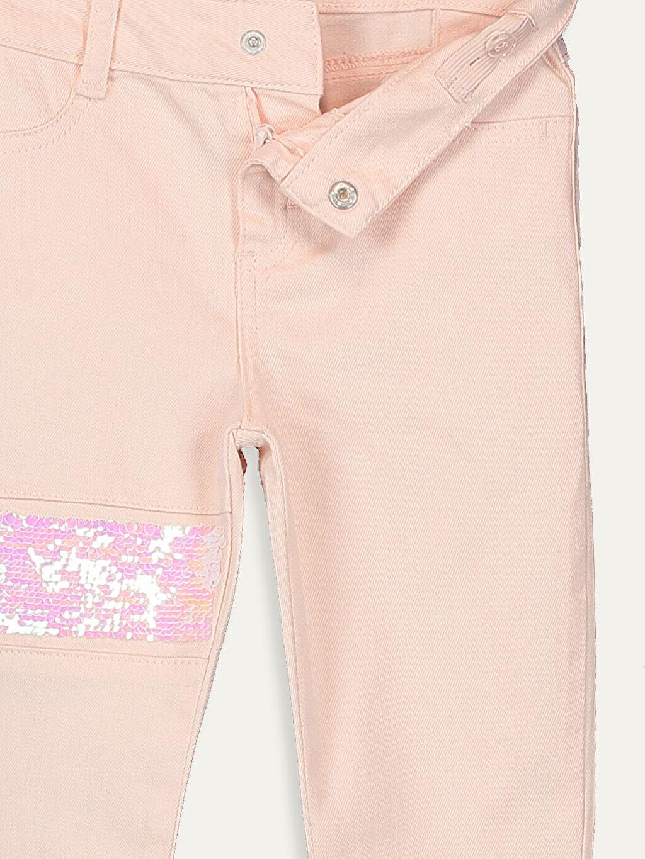 %98 Pamuk %2 Elastan Kız Çocuk Çift Yönlü Payetli Skinny Pantolon