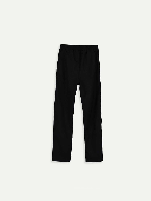 %64 Polyester %2 Elastan %34 Viskon Standart Normal Bel Pantolon Düz Kız Çocuk Pamuklu Pantolon