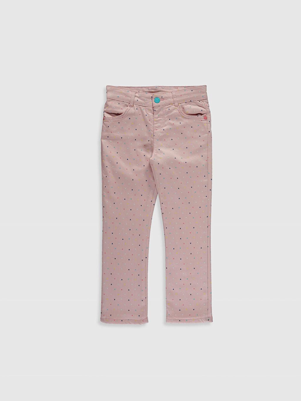 Pembe Kız Çocuk Slim Gabardin Pantolon 9W5684Z4 LC Waikiki