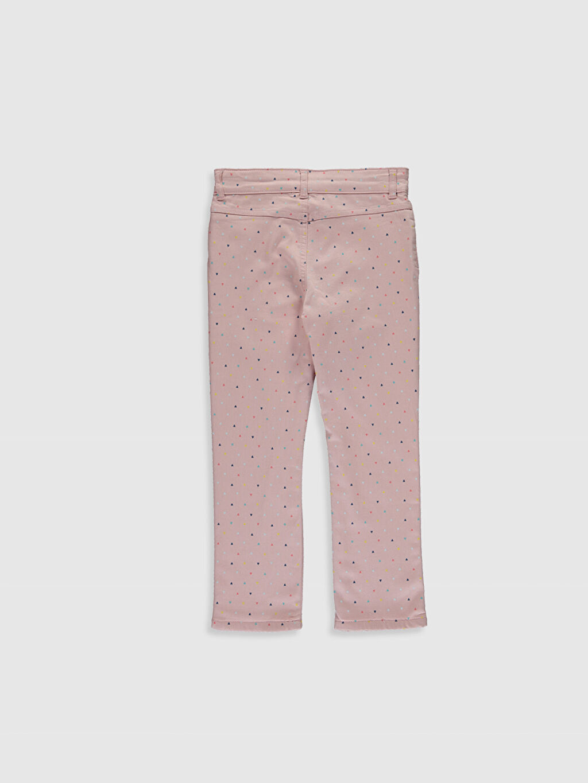 %67 Pamuk %29 Polyester %4 Elastan %100 Polyester Baskılı Normal Bel Dar Pantolon Gabardin Kız Çocuk Slim Gabardin Pantolon