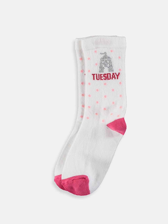 Pembe Kız Çocuk Soket Çorap 5'li