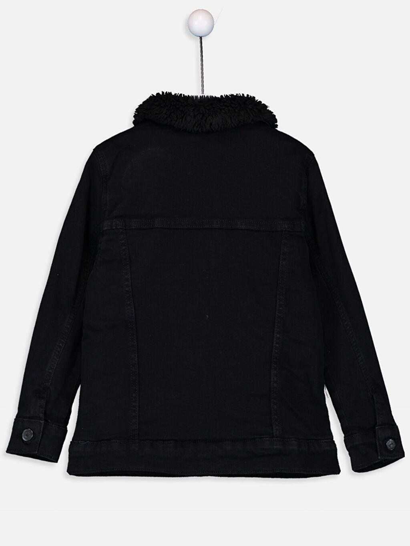 %99 Pamuk %1 Elastane Düz Jacket Polar Astar Aksesuarsız Kalın Jean Ceket Standart Erkek Çocuk Jean Mont