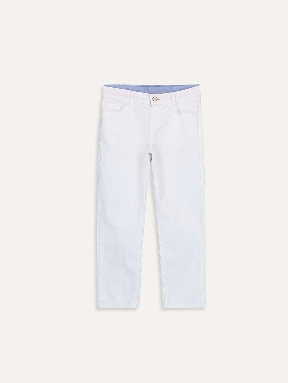 Beyaz Erkek Çocuk Pamuklu Pantolon 9W7635Z4 LC Waikiki