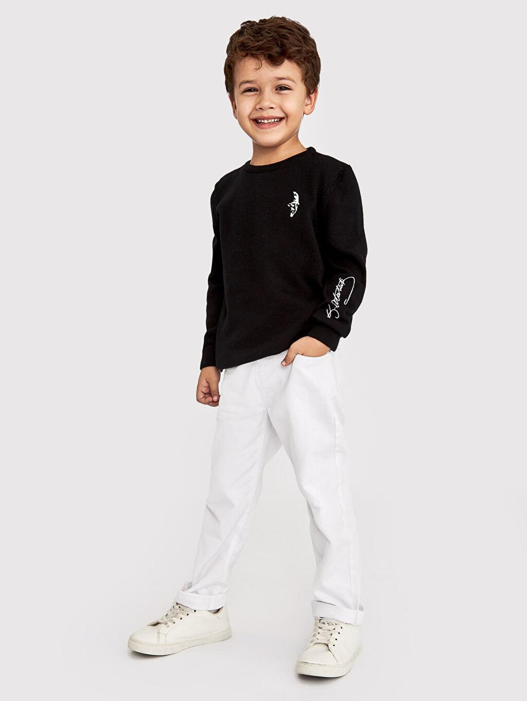 %100 Pamuk Erkek Çocuk Pamuklu Pantolon