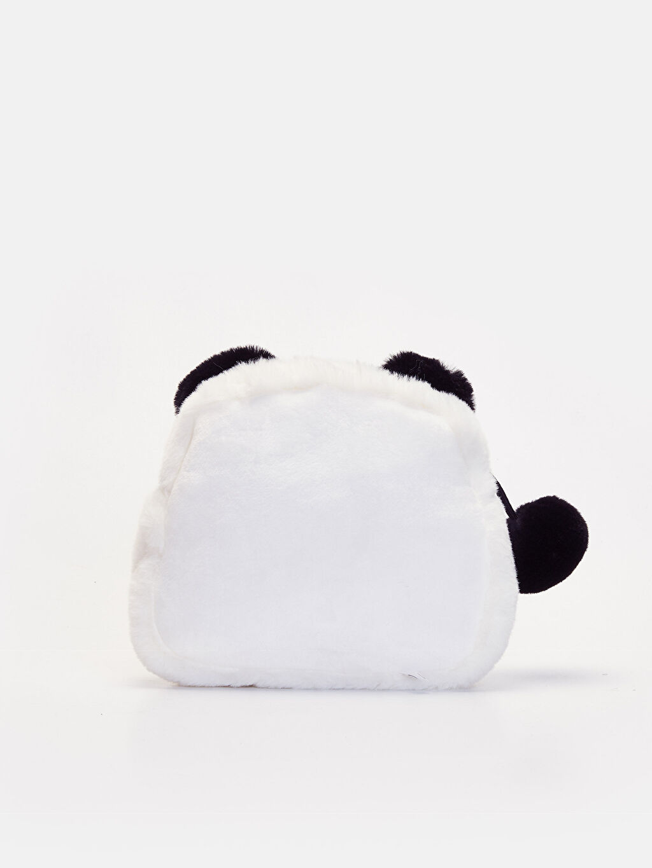 %100 Polyester Günlük Çanta Çapraz Çanta Pelüş Kız Çocuk Panda Kol Çantası