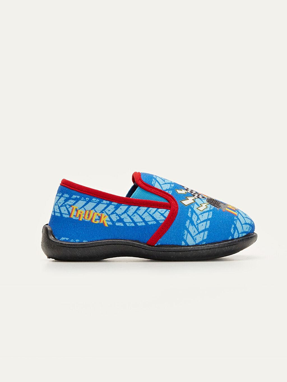 Mavi Erkek Çocuk Baskılı Panduf 9W8230Z4 LC Waikiki