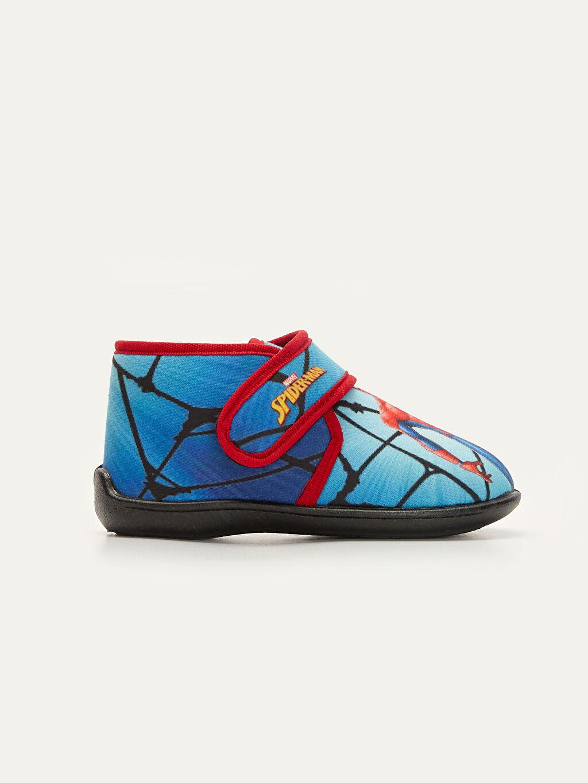 Mavi Erkek Çocuk Spiderman Baskılı Panduf 9W8236Z4 LC Waikiki