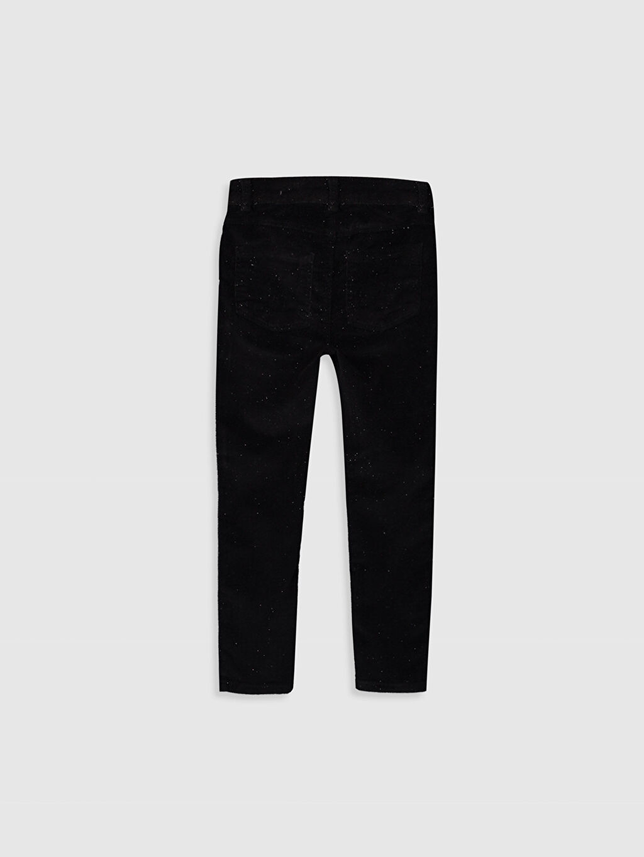 %82 Pamuk %16 Polyester %2 Elastan Düz Kadife Normal Bel Dar Pantolon Kız Çocuk Skinny Kadife Pantolon