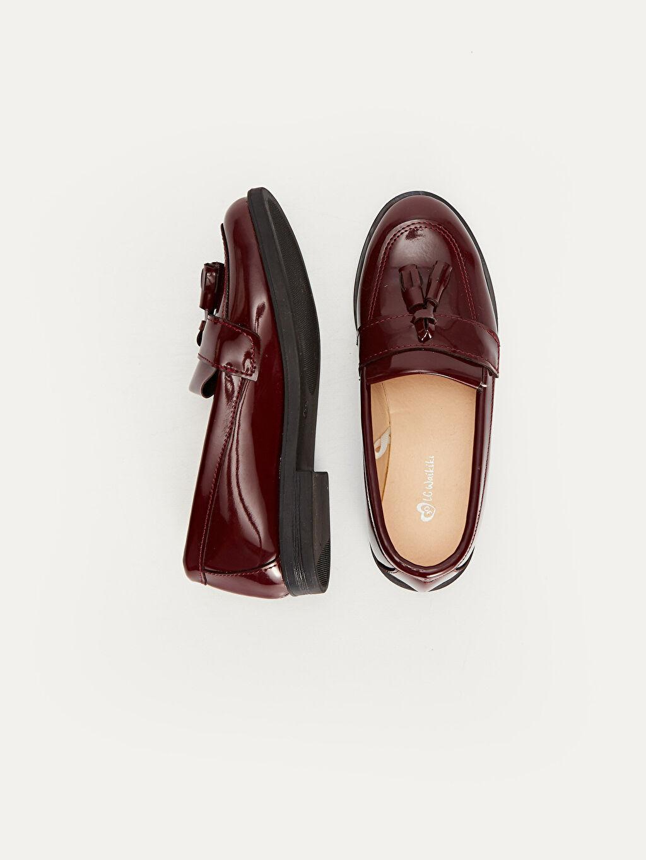 %0 Diğer malzeme (poliüretan) Klasik Ayakkabı Diğer PU Astar Işıksız Kız Çocuk Püskül Detaylı Loafer Ayakkabı
