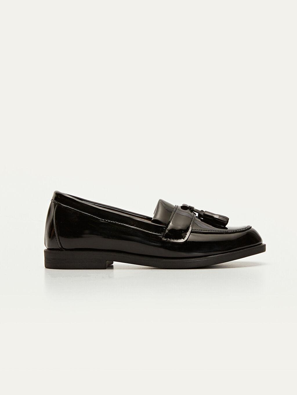 Siyah Kız Çocuk Püskül Detaylı Loafer Ayakkabı 9WG029Z4 LC Waikiki