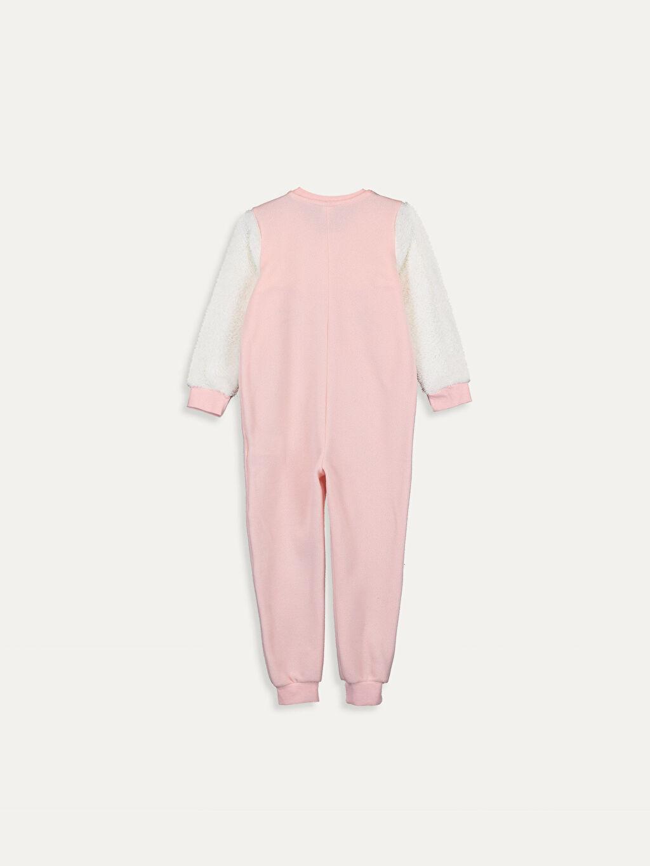 %100 Polyester Kapüşonsuz Tulum Düz Standart Kız Çocuk Polar Tulum