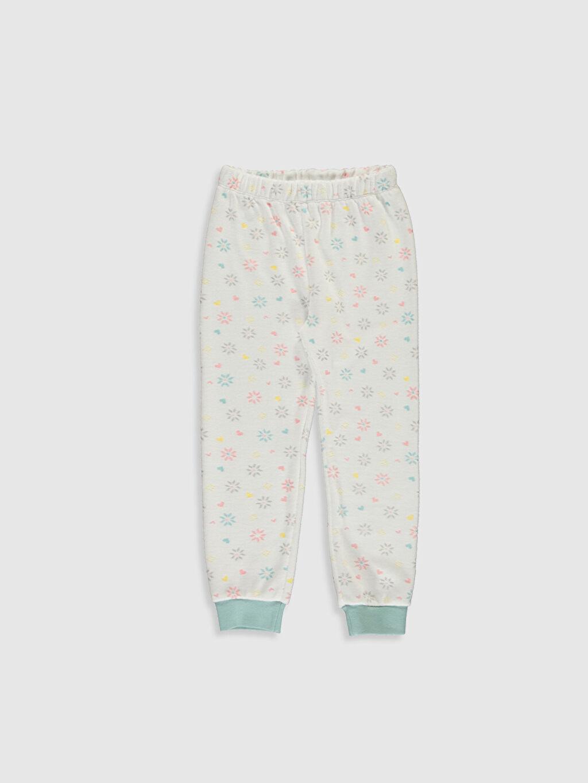 %79 Pamuk %21 Polyester Kız Çocuk Baskılı Kadife Pijama Takımı