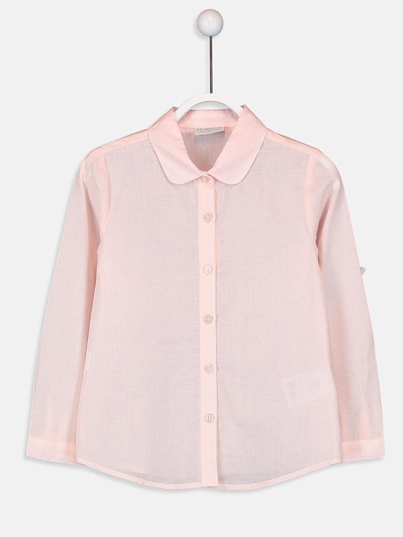 Pembe Kız Çocuk Poplin Gömlek 9WG350Z4 LC Waikiki