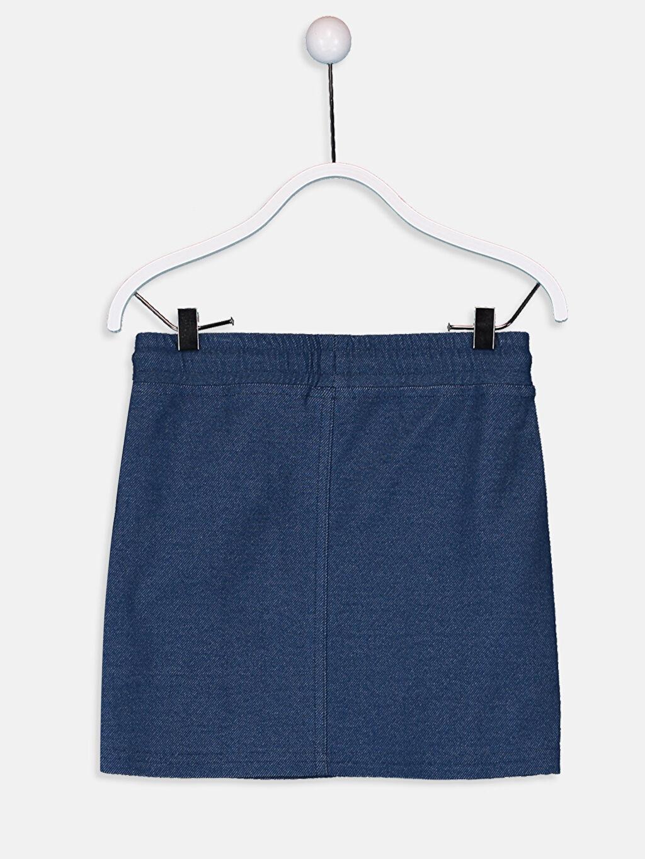 %70 Pamuk %24 Polyester %6 Elastan Etek İnce Sweatshirt Kumaşı Standart Baskılı Kız Çocuk Baskılı Etek